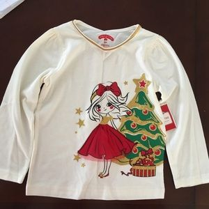 Infant Girls Holiday Time Graphic Long Sleeve Tee